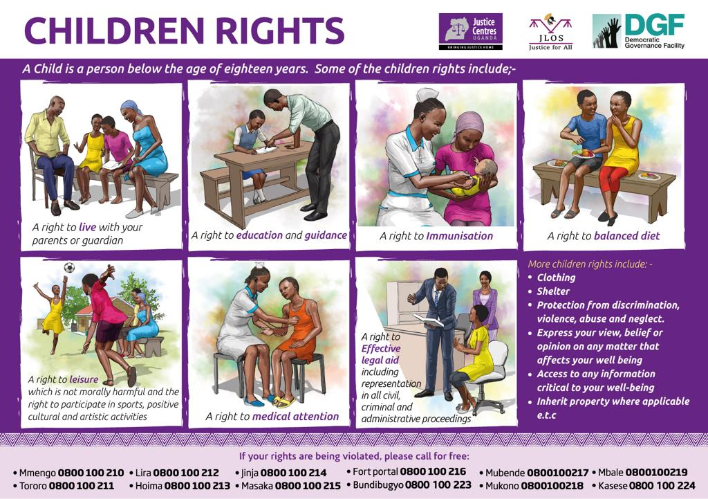 JCU materials for down load: poster about children's rights