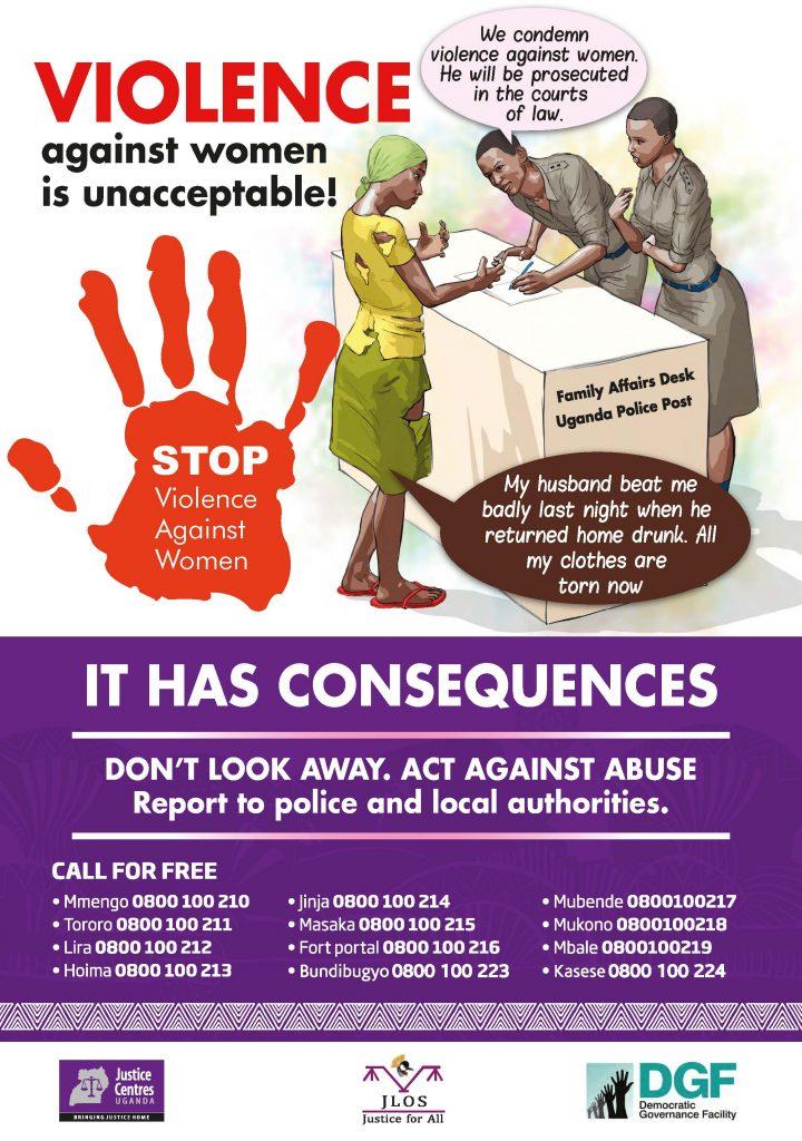 JCU Materials for download - Poster: Stop Genderbases Violence