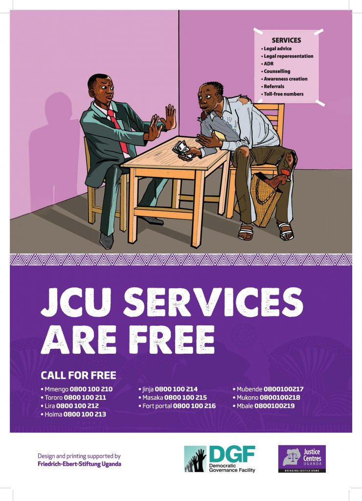 JCU Materials for download - Poster: JCU SERVICES ARE FREE