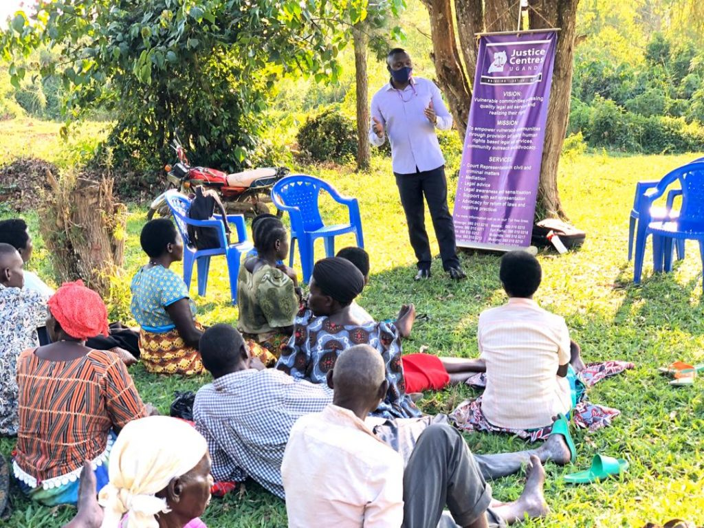 Justice Centres outreach to Ugandan communities