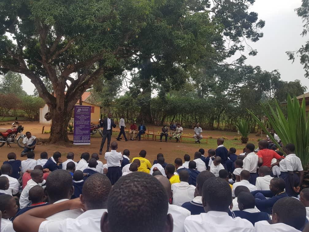 Justice Centres Uganda school outreach