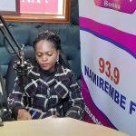 Pictured is JCU Advocate ~ Mmengo Centre, conducting a radio talk show