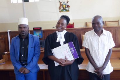 JCU Fort Portal was helping to solve a case through litigation - see the happy clients