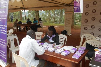JCU legal officer giving legal advice at an outreach